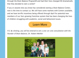 Email Flyer by The Virtue Agency | Brain Balance Centers