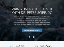 Scire Integrative Health Center Landing Page